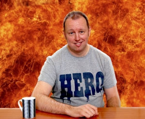 Gareth, Hero T shirt, flames