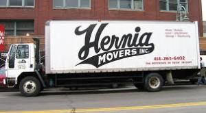 """Hernia Movers"" furniture removals van"