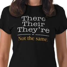 There, their and they're - not the same T shirt